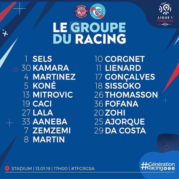 Match day ! On continue ce bon début de janvier ? #TFCRCSA #GénérationRacing Go les p'tits bleus !! Photo