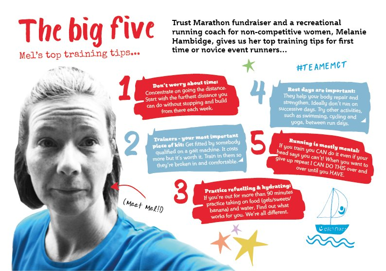 Our fab fundraiser Mel has some top training tips for first-time runners! Joining the #TrustTribe will keep you motivated to stick to your 2019 goals as we will be there to support you every step of the way! ⬇️ #SundayRunday