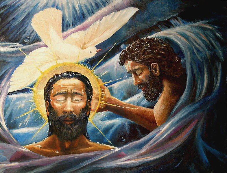 O Lord, when #Christ was baptized in the river Jordan the #HolySpirit came upon him &amp; your voice proclaimed from heaven, 'This is my beloved Son.' Grant that we, who by water &amp; the Holy Spirit are your adopted children, may continue steadfast in your love  #Lauds #BaptismofChrist<br>http://pic.twitter.com/ZL6UmNGzug
