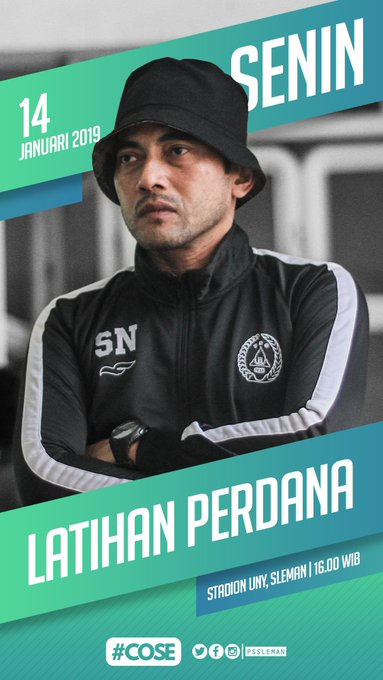 PSS akan menggelar latihan perdana musim ini pada hari Senin (14/01) di Stadion UNY pukul WIB. Latihan akan dipimpin langsung oleh pelatih kepala, Seto Nurdiantoro. #PSSleman #COSE Photo