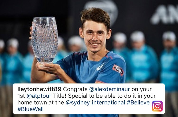 From one Australian tennis legend to a future one? 🇦🇺