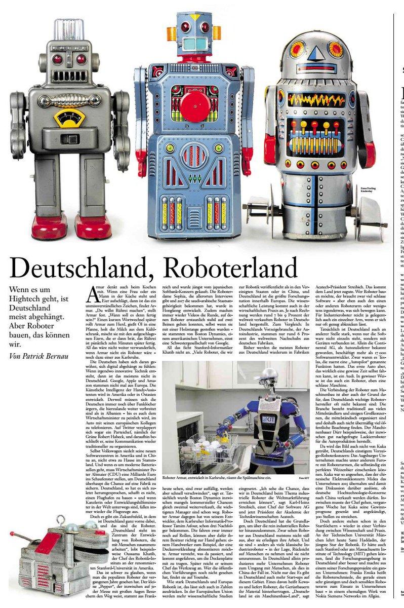 #Digitalisierung #I40 #Robotik #Zukunft Quelle FASZ 13.1.19
