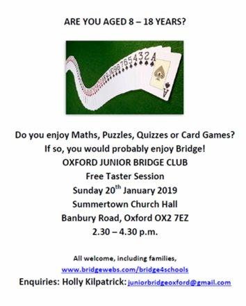 Oxford Bridge Club At Oxfordbridge Twitter