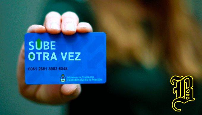"""Lanzan """"Sube otra vez"""", la tarjeta para no olvidarse que el transporte aumentó de nuevo Nota completa: Foto"""