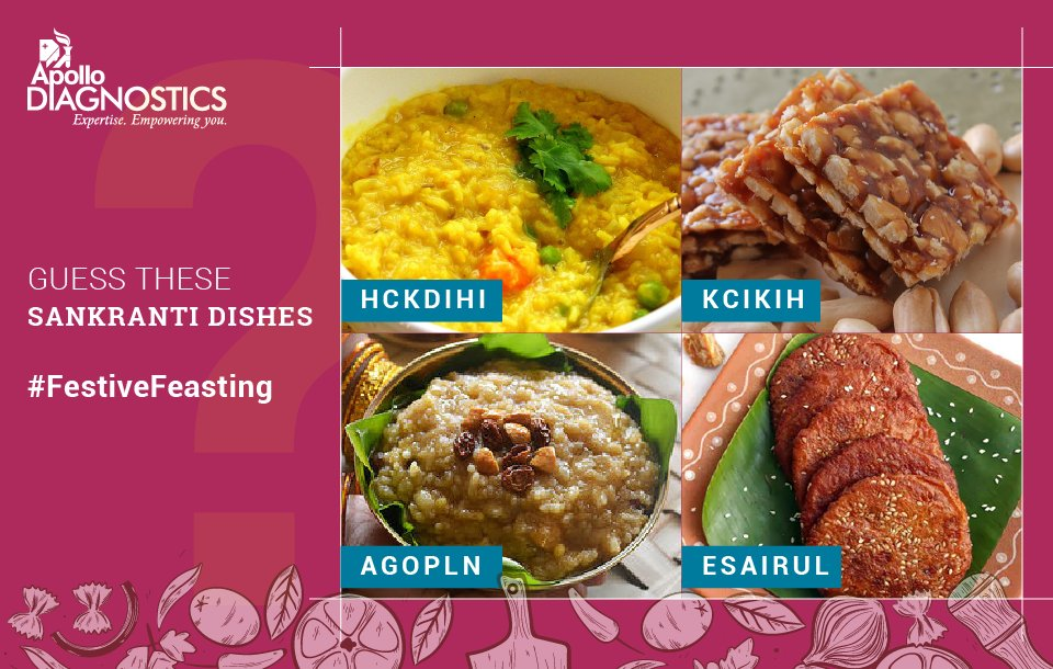 Guess the names of the dishes below and discover your healthy food options for this festive season. It's time to put on your thinking caps and share your answers in comments. Three lucky winners to win exciting gifts from #ApolloDiagnostics. #FestiveFeasting <br>http://pic.twitter.com/NOEq126Biz