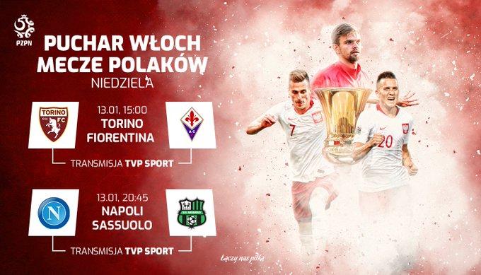 Czas na niedzielę z #CoppaItalia! 🏆🇮🇹 Dziś trzymamy kciuki za trzech Polaków: Arkadiusza Milika, Piotra Zielińskiego i Bartłomieja Drągowskiego. 💪 Foto