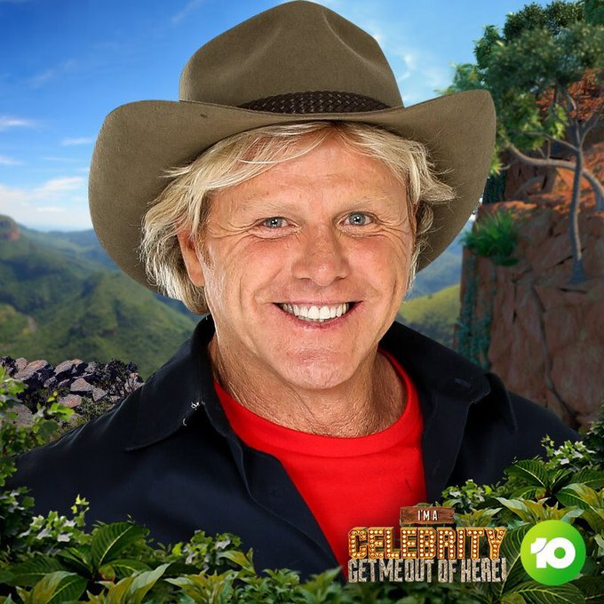 Is Derm wearing one of those novelty hats that comes with a wig in it? #imacelebrity #ImACelebAU Photo