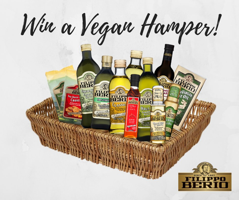 To celebrate the New Year and #Veganuary we're giving you the chance to #win a hamper full of all our vegan products! To enter simply RT this tweet, follow @FilippoBerio and comment using #CookingWithBerio! One entry per person &amp; competition ends 17/01/2019 at 12pm. Good luck!<br>http://pic.twitter.com/TTtKqxaNPU