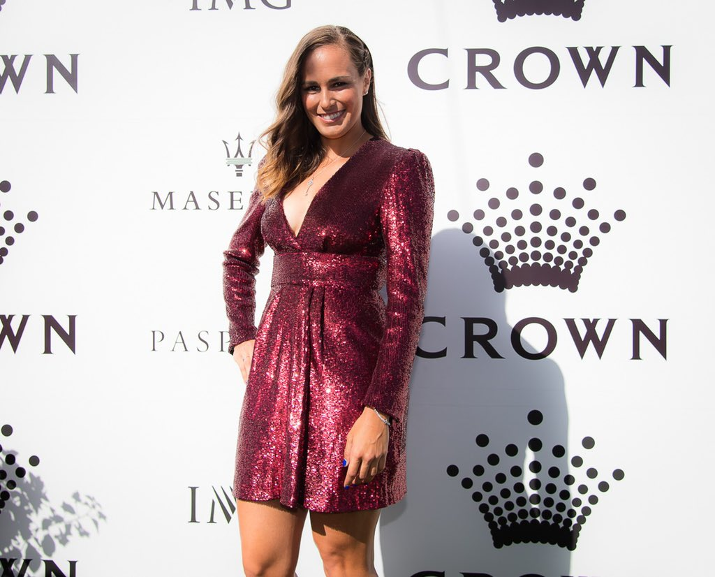 Annual IMG Party at @CrownResorts 🖤🔥 —— 📸: @JJlovesTennis https://t.co/gZWSNs03AK