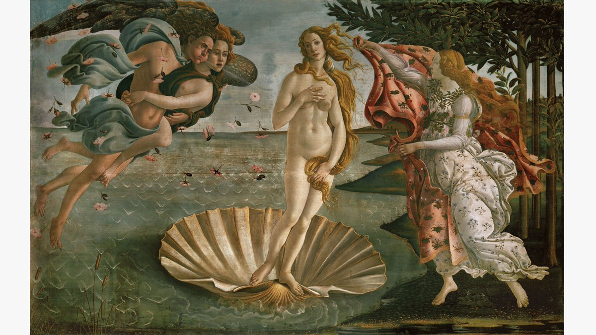 ... with hurricanes and galaxies.  https://thamesandhudson.com/news/the-masterpiece-details-you-never-saw/ …  Sandro Botticelli, 'The Birth of Venus' , ca.
