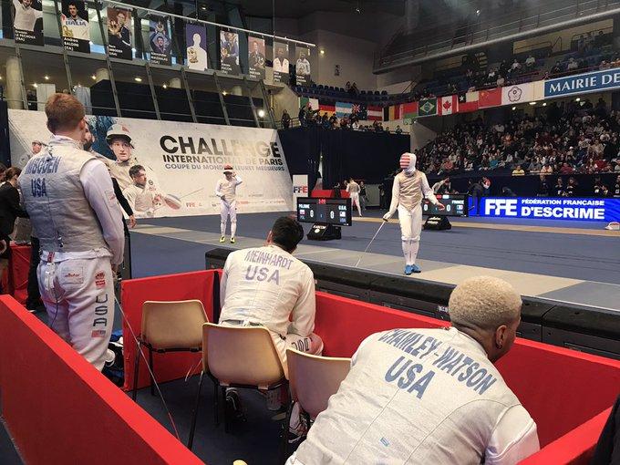 #CIPfleuret 🤺 : Les trois autres matchs ont commencé : 🇵🇱 POLOGNE - USA 🇺🇸, 🇭🇰 HONG KONG - ITALIE 🇮🇹, 🇰🇷 CORÉE - JAPON 🇯🇵 Photo