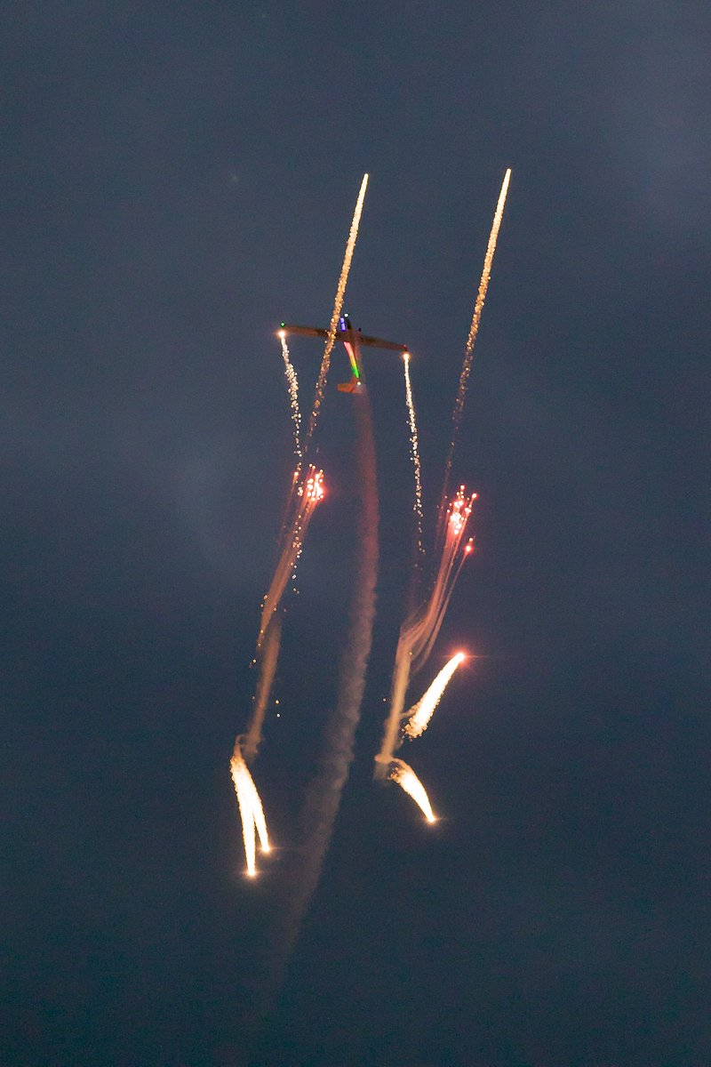 Aero sparks night time display part of Portrush Airshow from a couple of years ago. @PortrushAirshow
