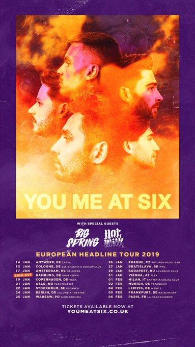 EUROPEAN HEADLINE TOUR: Starts on Monday. Get your tickets now Photo