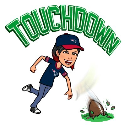 @mercier_ellen 🥳 I'm SO excited for you ☺️ Have an absolutely brilliant time 👍 No question whatsoever of your love and loyalty for our amazing Patriots lads 🥰 Enjoy your day and stay safe & warm 🔥🏈🔥 #GoPats #EverythingWeGot xXx Foto