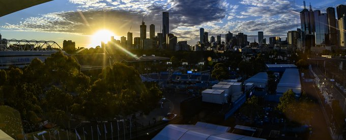 Get some rest everyone, last #AusOpen ⏰ 🎾 Foto