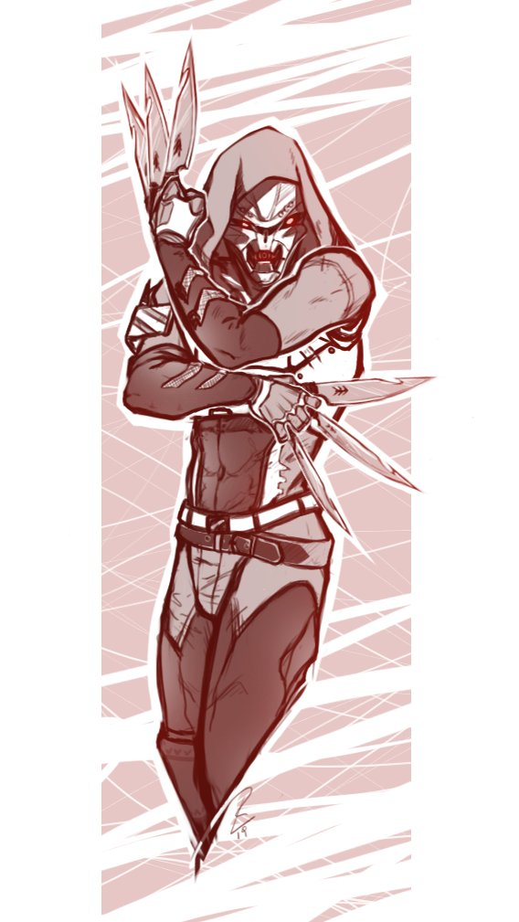 I suck at titles, so: random Exo Hunter with butter knives (aka  Untitled-1-Recovered copy)  \:D/ <br>http://pic.twitter.com/iTmnDSmffu