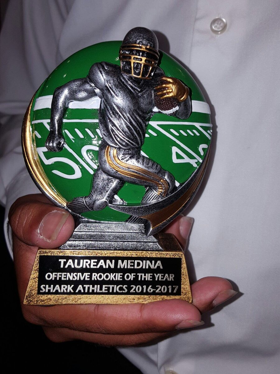 My Freshman I was awarded Offensive Rookie of The Year #AlonzoTracyMourningHS