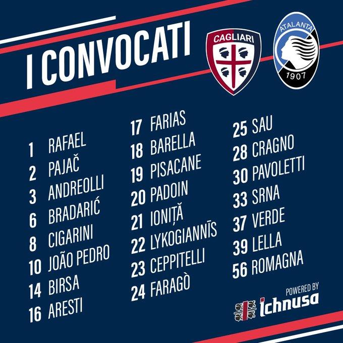 #CagliariAtalanta, i convocati 📋 2️⃣3️⃣ rossoblù per la #CoppaItalia 🏆 Foto