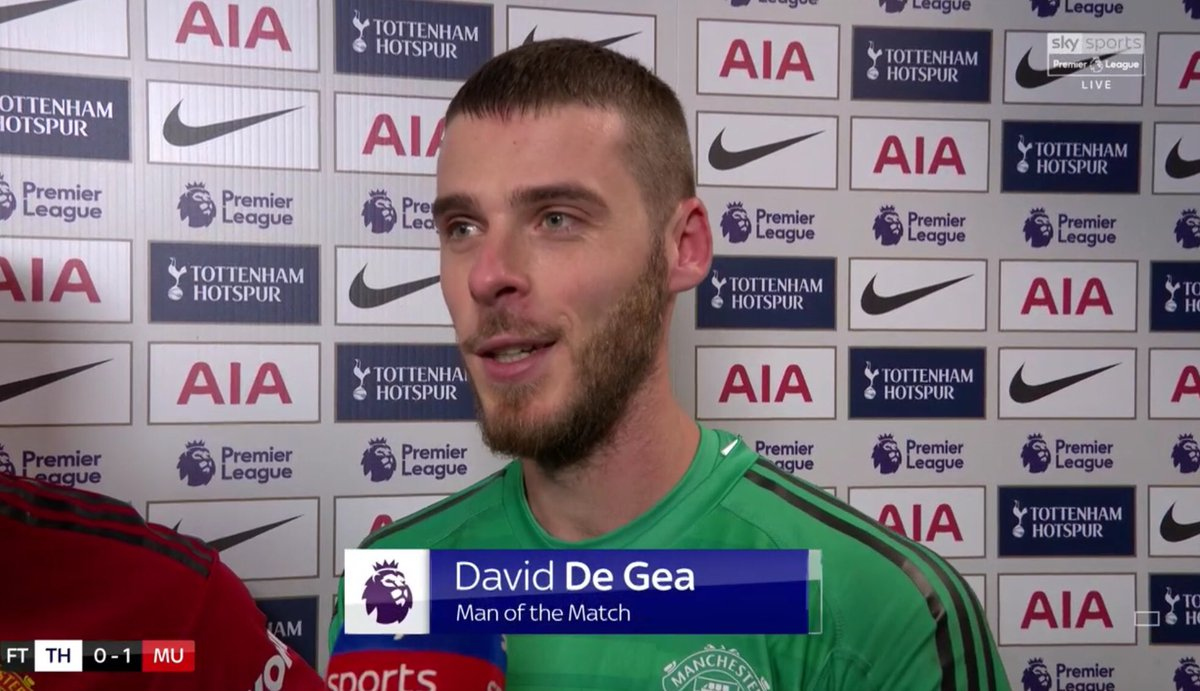 🍾Man of the Match, @ManUtd's David De Gea 🍾 ✋11 saves (all in the 2nd half), the most by any keeper in a PL fixture this season ✋13.75% of his saves in PL this season were in the 2nd half ✋Back-to-back PL clean sheets for the 1st time since a run of 4, Dec 2017-Jan 2018