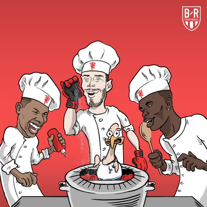 The Manchester United stars cooked Spurs at Wembley 🍽️ Photo