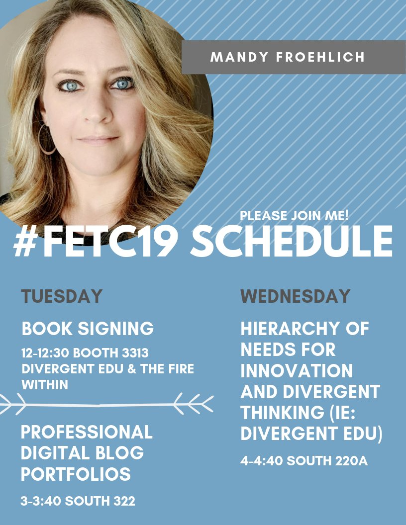 Please join me at #FETC19 in just a couple weeks! I'd love to catch up with my #PLN!