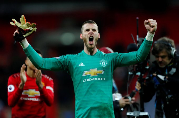"""The players are playing very well, the team is strong now. This is the real Man Utd."" - David de Gea #TOTMUN #PL Photo"