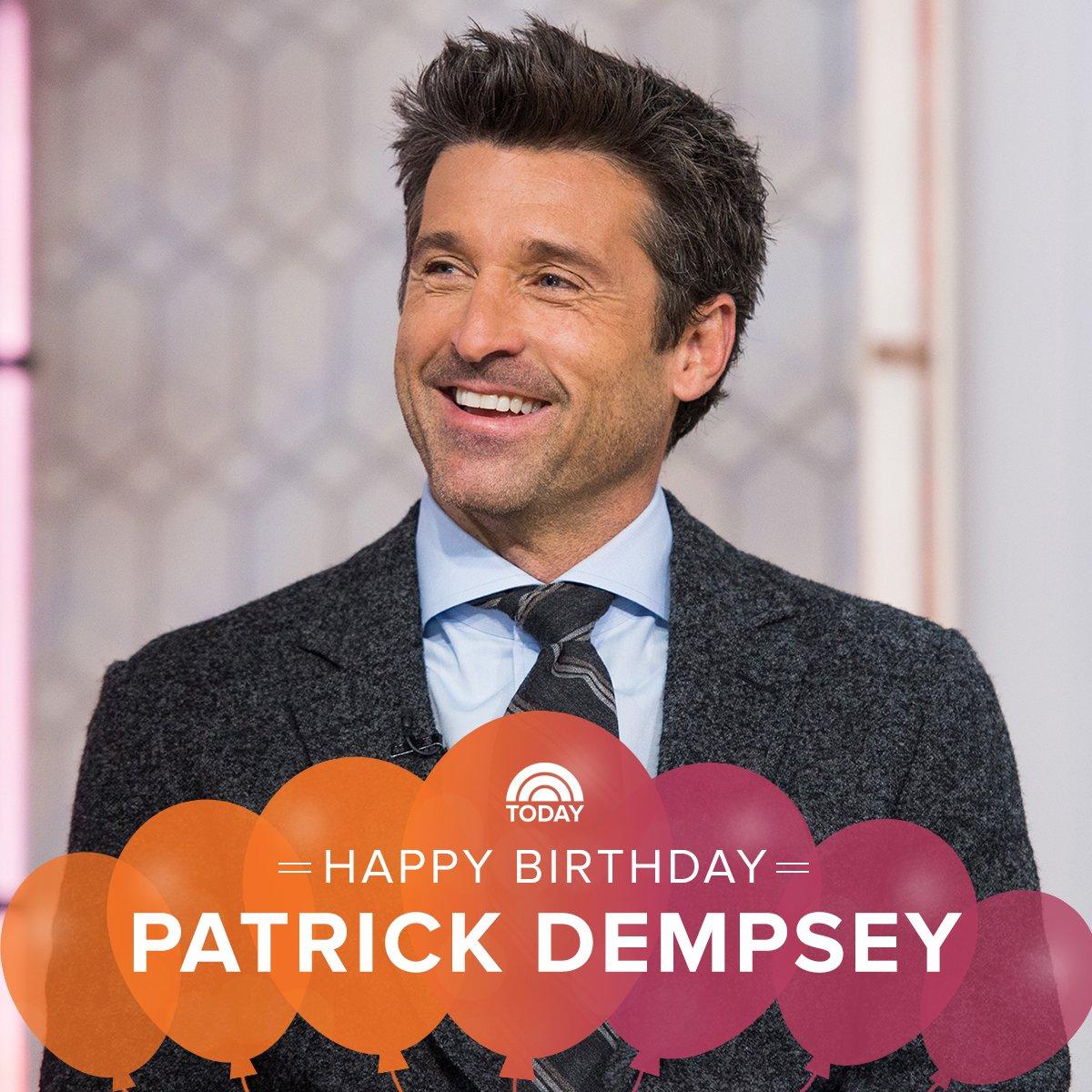 Happy birthday to the dreamy Patrick Dempsey!