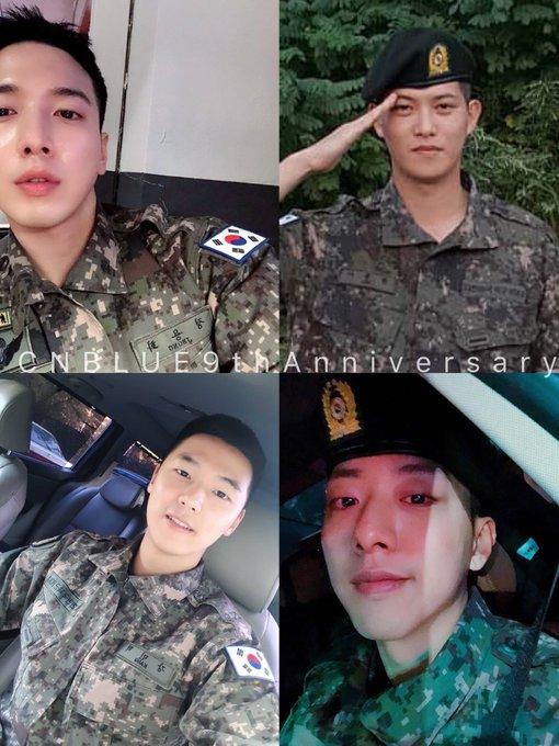 ปีนี้ก็จะเหงาๆหน่อย อยู่ในกรมกันหมดเลยจ้า ทหารซีบึล 💕 #CNBLUE와_BOICE가_함께한_78840시간 #CNBLUE9thAnniversary ภาพถ่าย