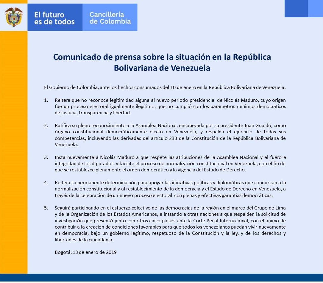 Cancillería Colombia's photo on Juan Guaidó