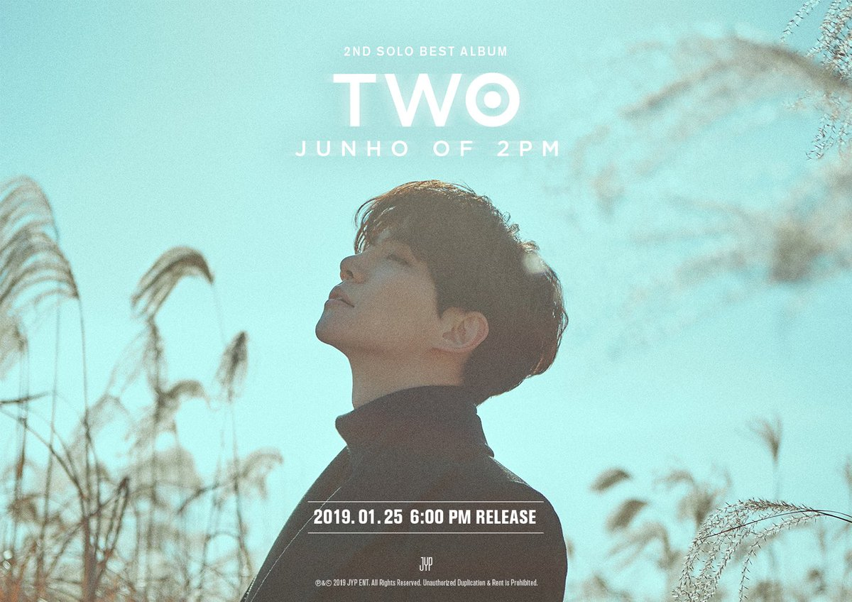 JUNHO (2PM) 2ND SOLO BEST ALBUM <TWO> 2019. 1. 25 PM 6:00  #2PM #JUNHO  #준호 #이준호  #TWO