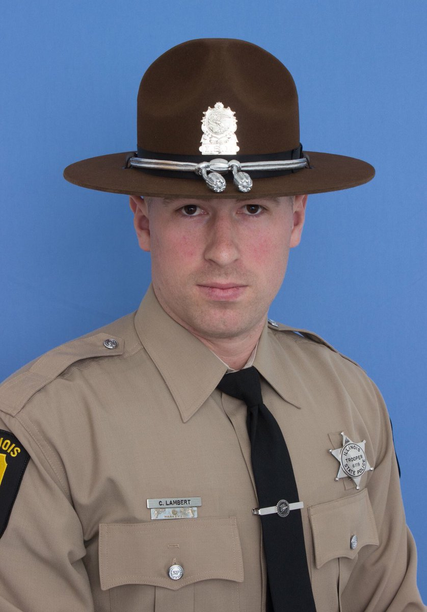 Today our thoughts and prayers are with the family and friends of @ILStatePolice State Trooper Christopher Lambert, who was struck and killed by a car while investigating a motor vehicle crash.   Godspeed brother.   #GoneButNeverForgotten <br>http://pic.twitter.com/Fx1SbT5wb9