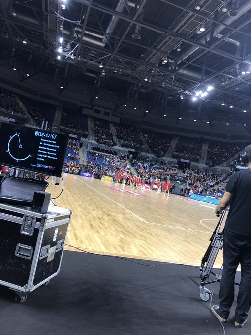 Second half - all still to play for. Would you make a change in England's attack end, or let them play it out? 3rd quarter always an opportunity To stamp your authority #quadseries #EngvNZ @SkyNetball Photo