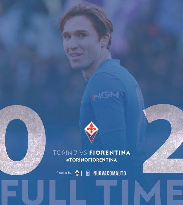 #CoppaItalia | #TorinoFiorentina La Fiorentina s'impose 2-0 face au Torino grâce à un doublé de Chiesa et accède aux quarts de finale de Coupe d'Italie ! Foto