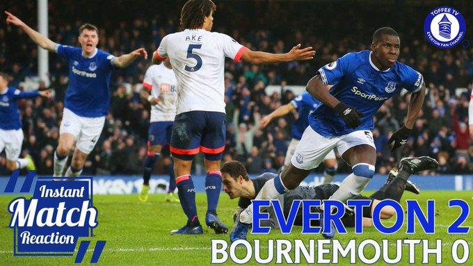 VIDEO: Everton 2-0 Bournemouth | Gwladys StreetReaction Foto