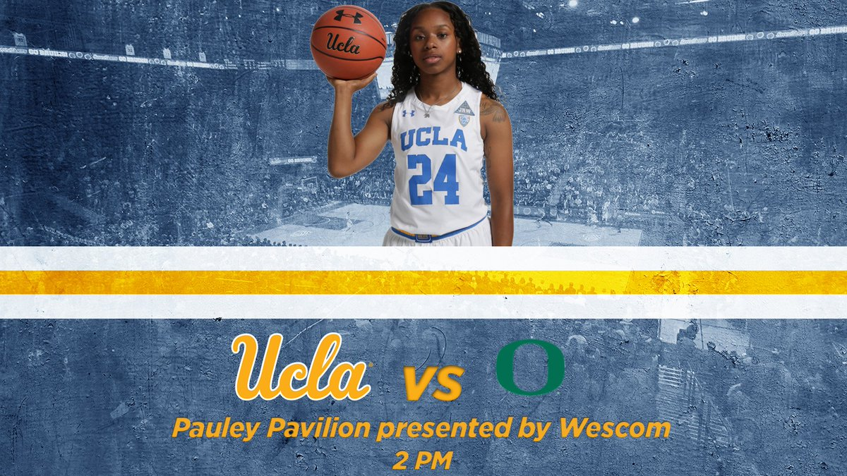 GAMEDAY! Big home game today for @UCLAWBB taking on No. 5 Oregon at 2 PM. #GoBruins