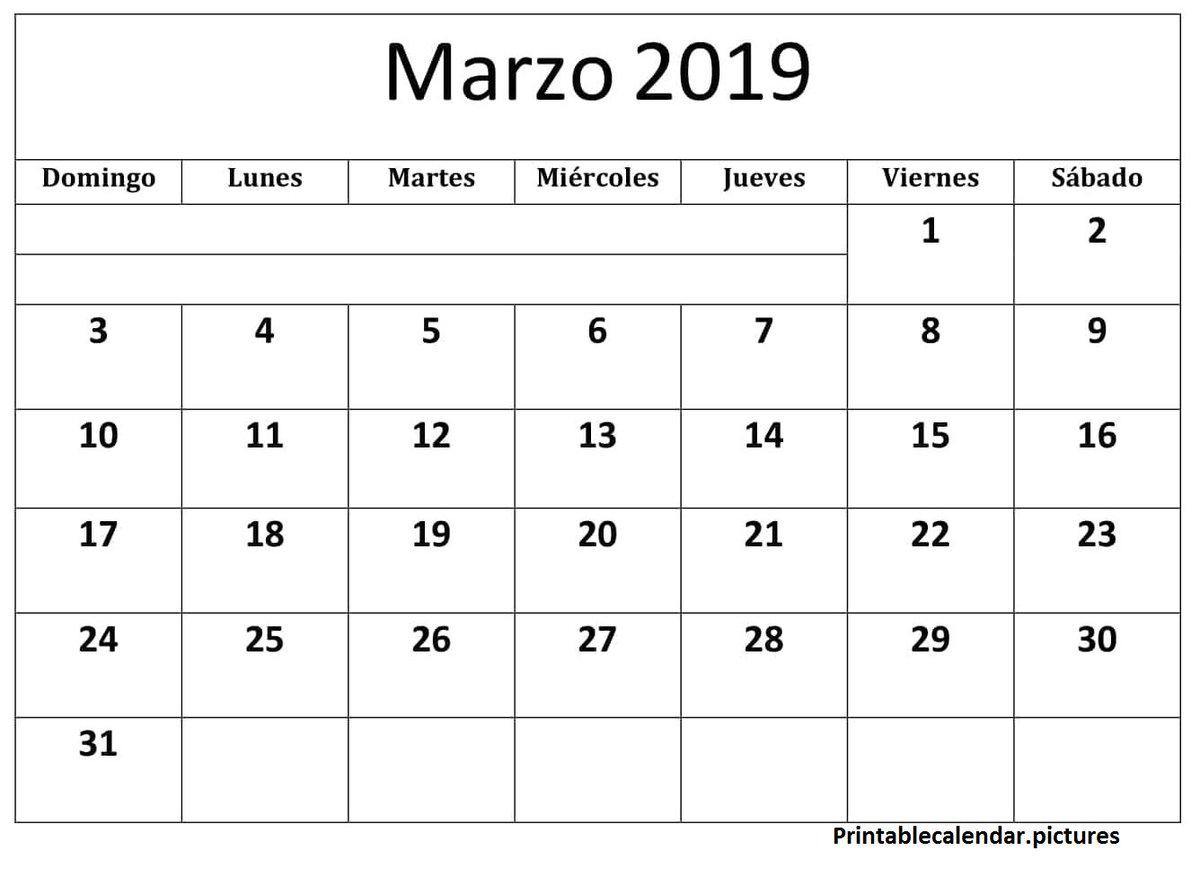 Marzo Calendario.Printablecalendar Pictures On Twitter Calendario Marzo 2019