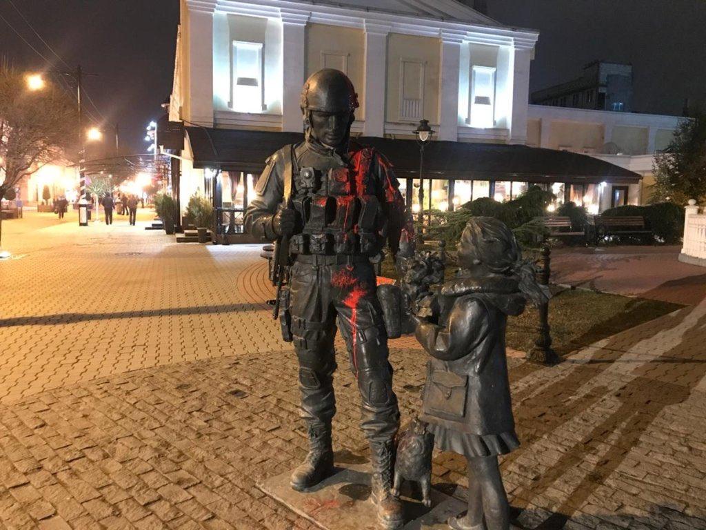 Приезжий вандал из Киева