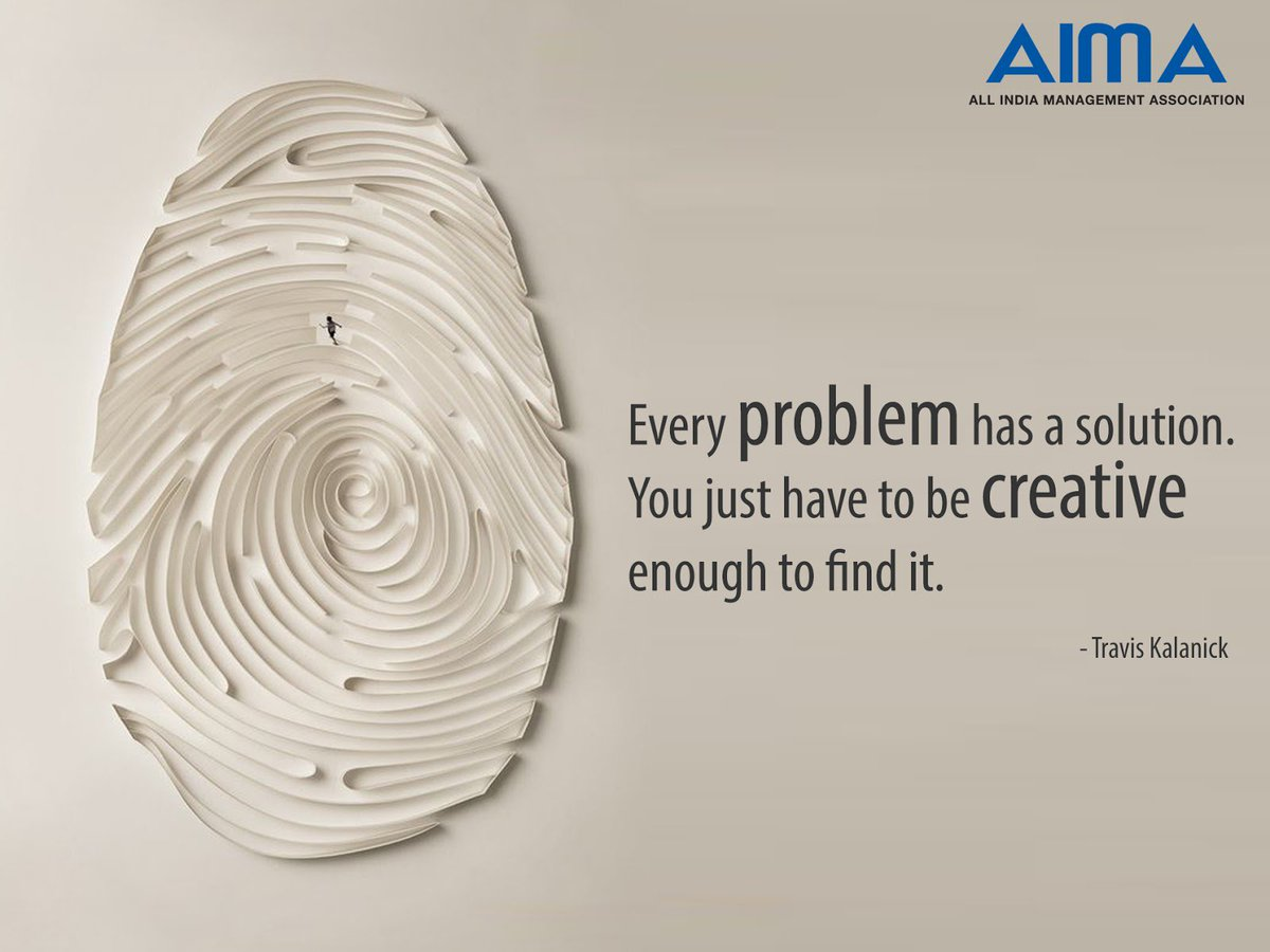 AIMA On Twitter A Problem Is Chance For You To Do Your Best MondayMotivation