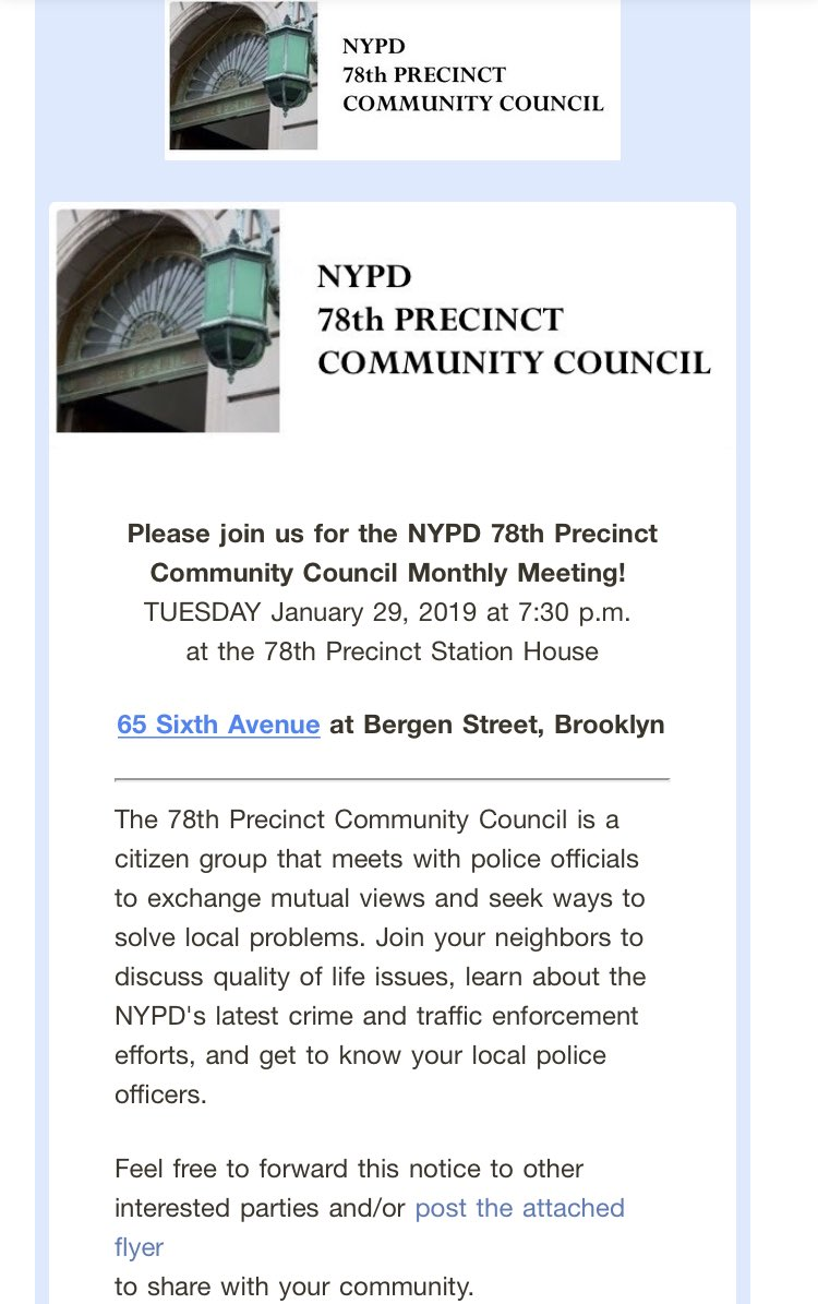 NYPD 78th Precinct Twitter Tweet Hope To See You T