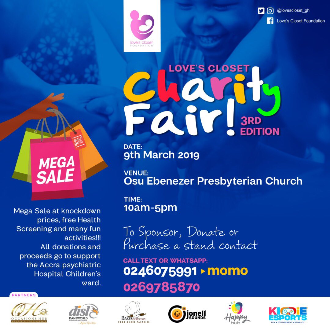 I can&#39;t wait!! This year will be super! #LCFCharityFair19 #childmentalhealth #saturdayvibes @jonell_sounds.wuushman1  @occasions_hub  @kiddieesports  @chalefoundation  @maamespancakes  @afoleymoments  @bakes_perfection @dansworldservices  @happyhubgh <br>http://pic.twitter.com/yf5agPA2ug