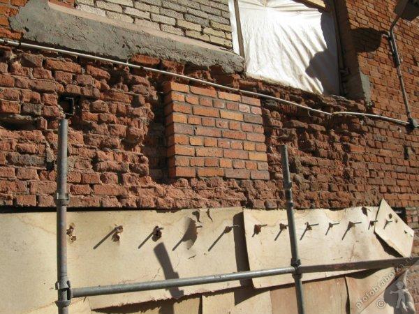 реставрация старого кирпичного дома