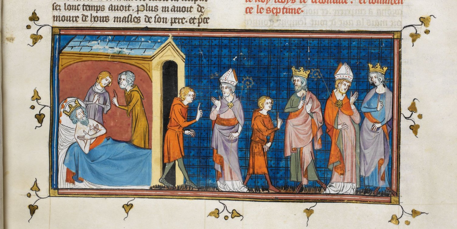 "Melibeus on Twitter: ""The death of Charlemagne #OTD 814 @BLMedieval Royal  16 G VI f. 194r… """