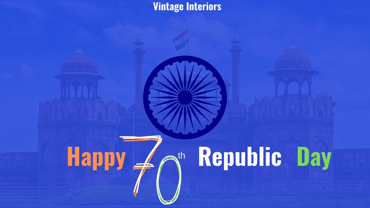 Freedom in mind, Faith in words, Pride in our hearts, Memories in our souls, Let's salute the nation on Republic Day🇮🇳!! Team Vintage Interiors wishes everyone a Happy Republic Day🇮🇳. #RepublicDayIndia #HappyRepublicDay2019 #70thRepublicDay