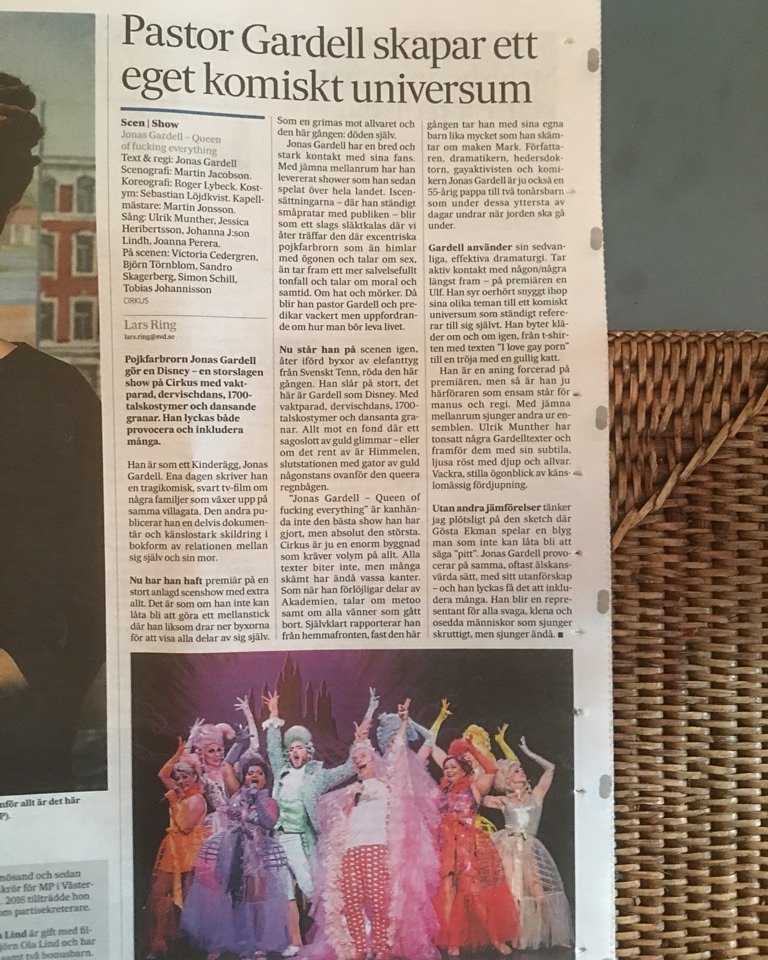 Fantastisk recension i SvD! 👸😀