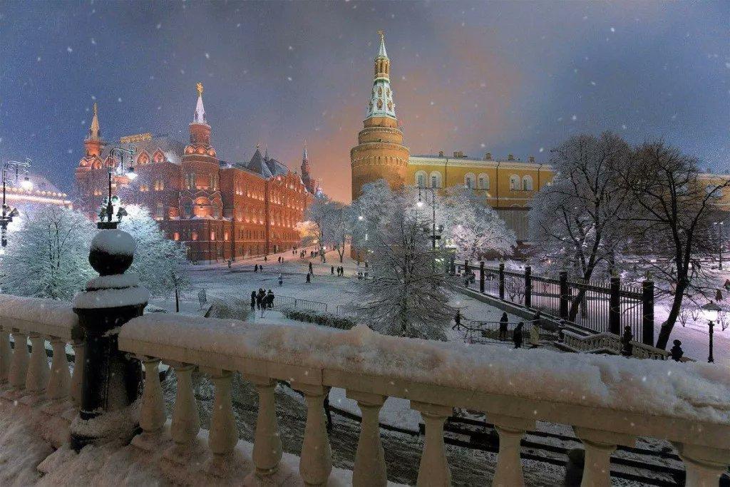 фотографии московская зима ранние годы дин