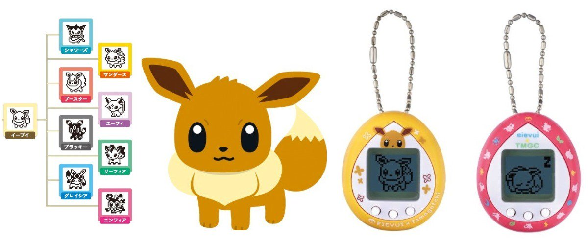 The official Pokémon Eevee Tamagotchi was released today in Japan. They're selling out extremely quickly, with some secondhand listings already priced over 10,000 yen for the set, so be sure to grab yours soon! The Japanese search term is イーブイ たまごっち #イーブイたまごっち