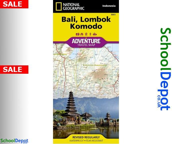 #NationalGeographicMaps http://schooldepot.co.uk/B/9781566955256 Bali Lombok And Komodo 9781566955256 #BaliLombokAndKomodo #Bali_