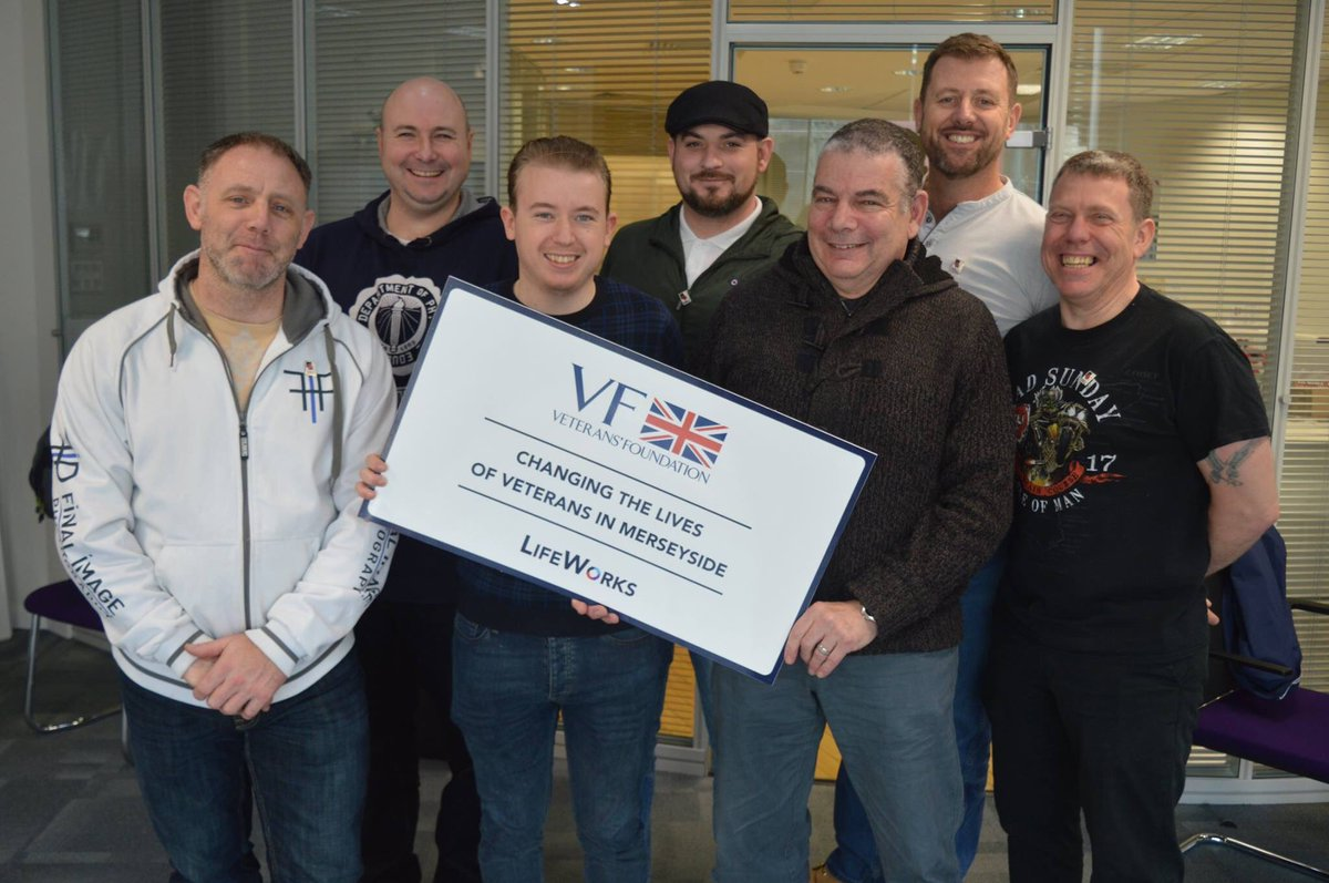 "Delighted to be able to run our life-changing employability course LifeWorks in Liverpool this week.   Iain Downie, Head of LifeWorks: ""Thanks to the generous support of @VeteransFdn we have been able to provide crucial employability skills to ex-service personnel in Liverpool."""