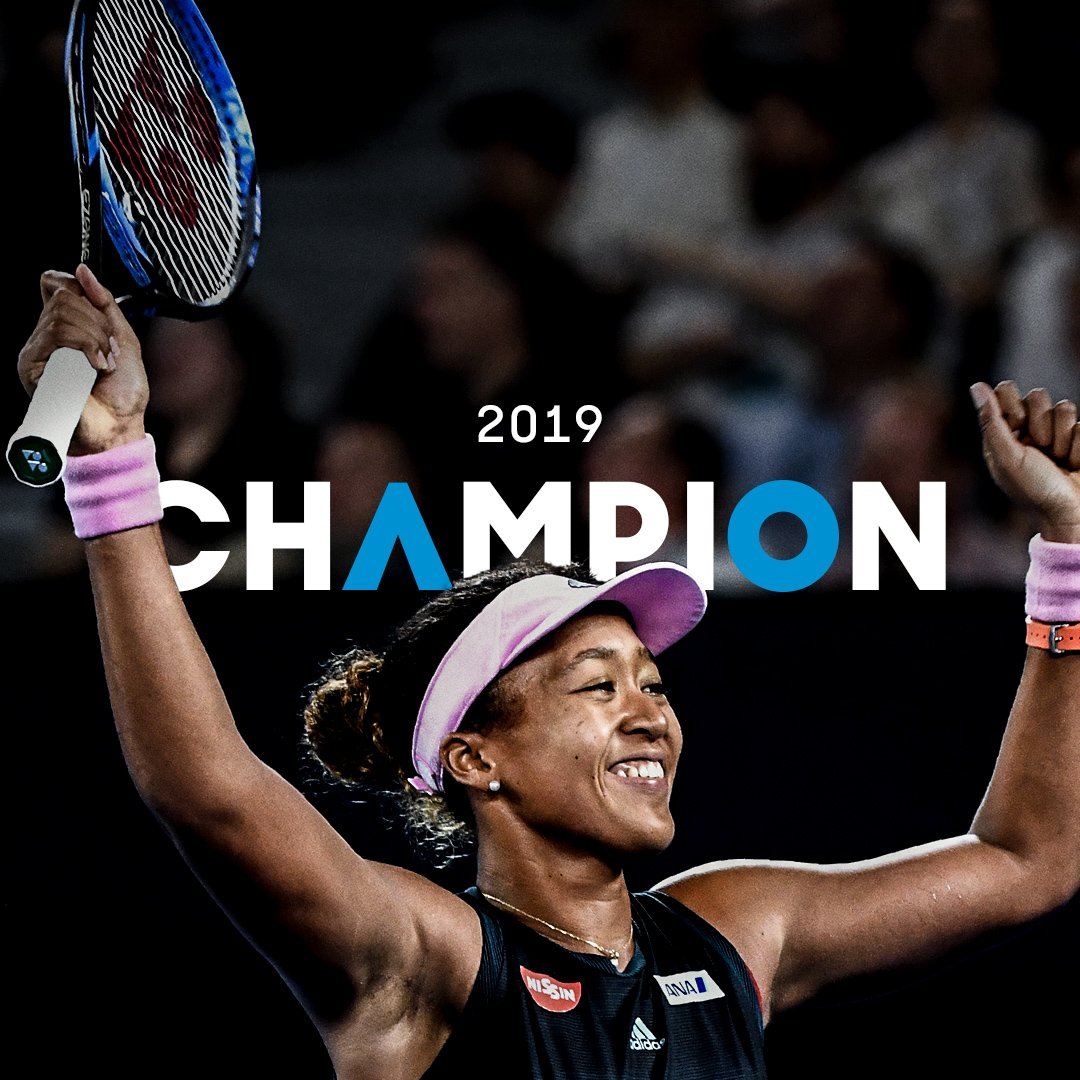 .@Naomi_Osaka_ is the Australian Open 2019 champion 🏆  She def. Petra Kvitova 7-6(2) 5-7 6-4.  #AusOpen
