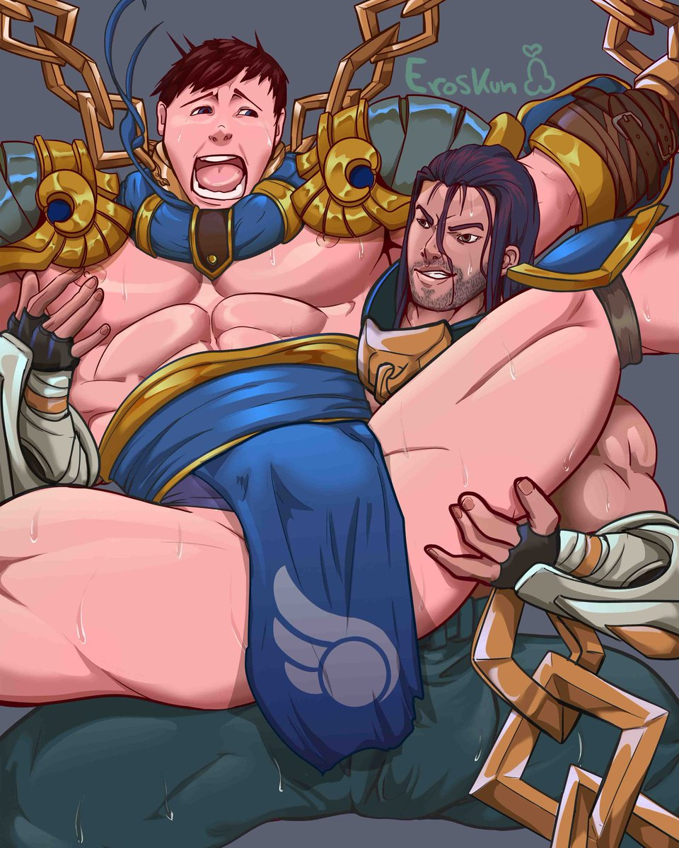 Uncensored At My Patreon Https Www Patreon Com Eroskun Sylas Garen Leagueoflegends Lol Porn Illustration Bara Art Fanart Mens Gay Hot Nsfw